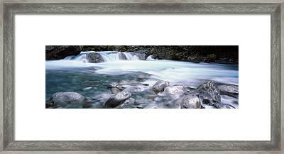 River, Hollyford River, Fiordland Framed Print