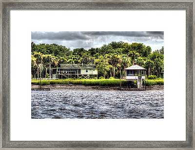 River House On Wimbee Creek Framed Print