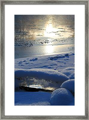 River Ice Framed Print