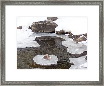 River Ice Framed Print by Yvette Pichette