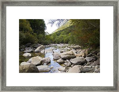river in Ainsa Framed Print
