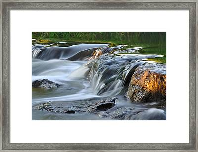River In Slow Motion Framed Print