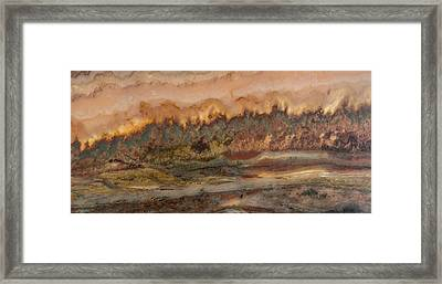 River In Stone Framed Print by Leland D Howard