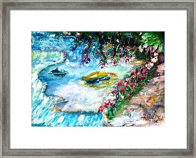 Fiume Nel Bosco-river In The Wood Framed Print