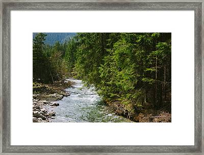 River In The Mountains Framed Print by Pati Photography