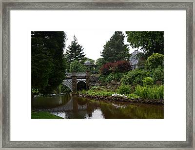 River In The Park Framed Print