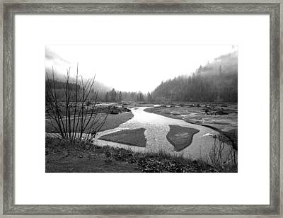 River In The Rain Framed Print by Gordon  Grimwade