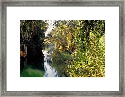 River Jordan Framed Print by Dennis Cox WorldViews