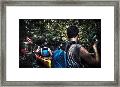 River Kayaking Framed Print