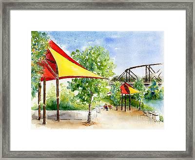River Landing Framed Print