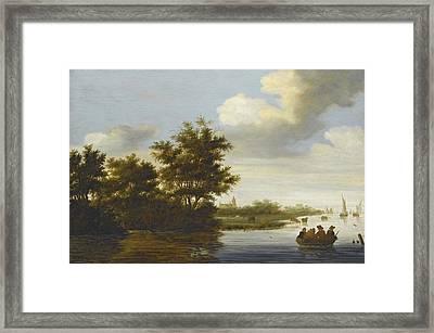 River Landscape Framed Print by Celestial Images