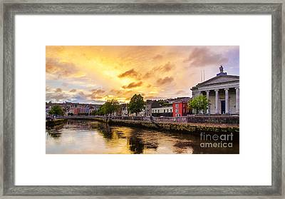 River Lee In Cork Framed Print by Daniel Heine