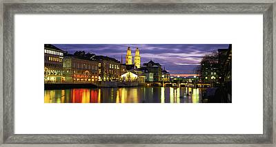 River Limmat Zurich Switzerland Framed Print