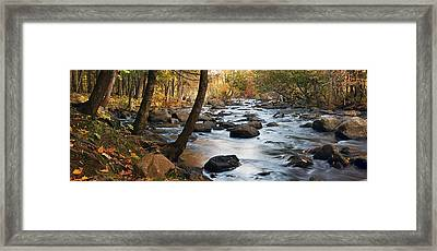 River Majesty Panorama Framed Print
