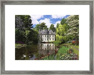 River Mansion Framed Print