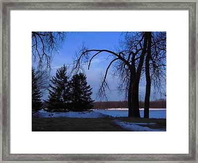 River Morning Framed Print