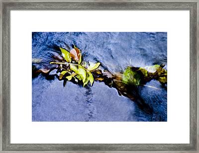 River Motion Framed Print