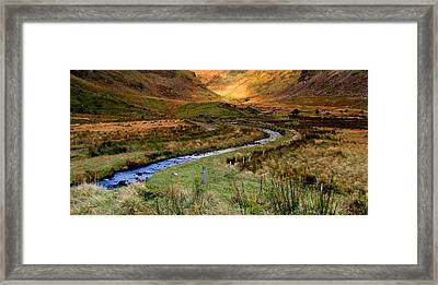 River Near Annascaul Lake In Kerry Framed Print