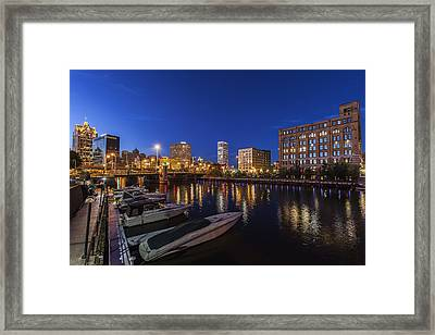 River Nights Framed Print by CJ Schmit