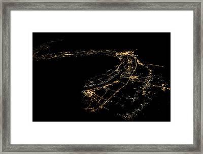 River Nile At Night Framed Print by Babak Tafreshi