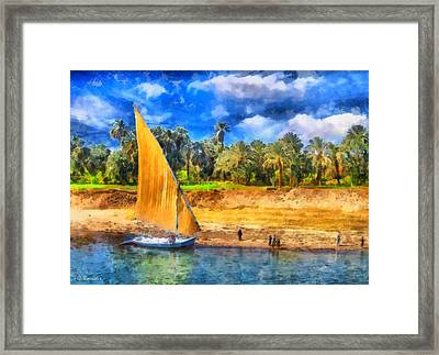 River Nile Framed Print