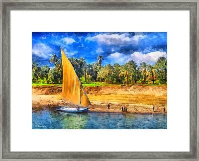 River Nile Framed Print by George Rossidis