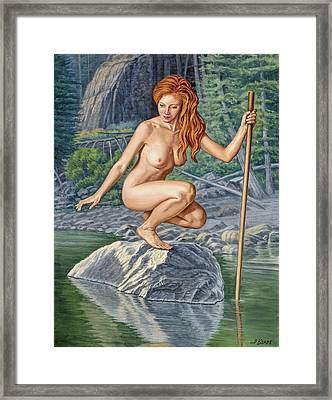 River Nymph Framed Print by Paul Krapf
