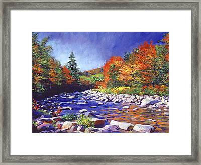 River Of Autumn Colors Framed Print by David Lloyd Glover