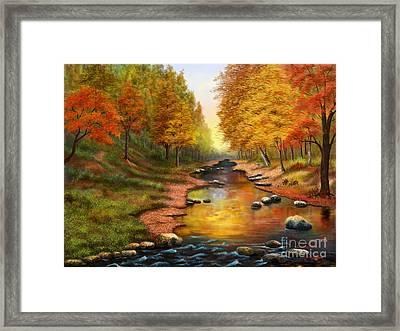 River Of Colors Framed Print by Sena Wilson