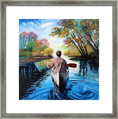 River Of Dreams Framed Print by John Lautermilch