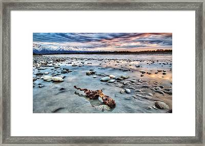 River Of Drift Framed Print by Ron Day