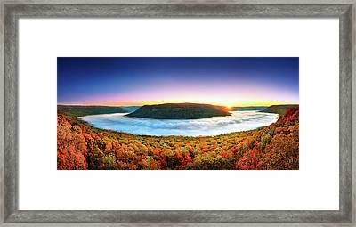 River Of Fog Framed Print