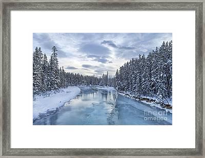 River Of Ice Framed Print by Evelina Kremsdorf