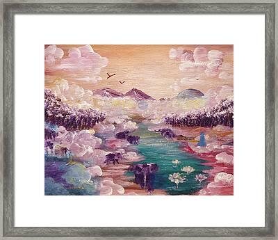 River Of Light Framed Print by Ashleigh Dyan Bayer