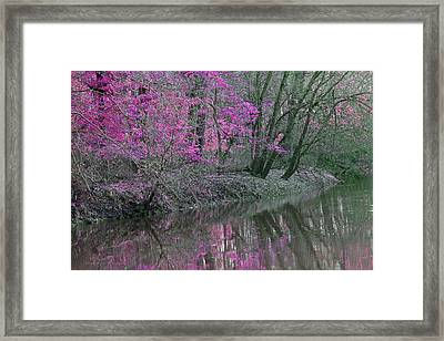 River Of Pastel Framed Print
