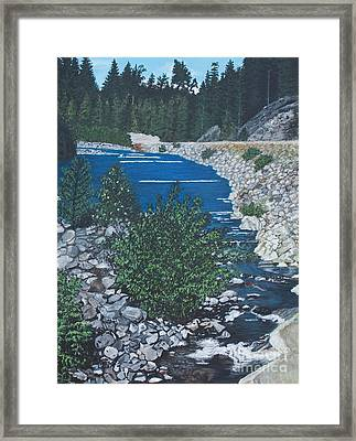 River Of Peace -2 Framed Print