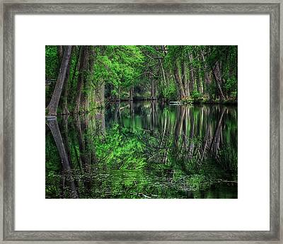 River Of Reflections Framed Print by Toma Caul