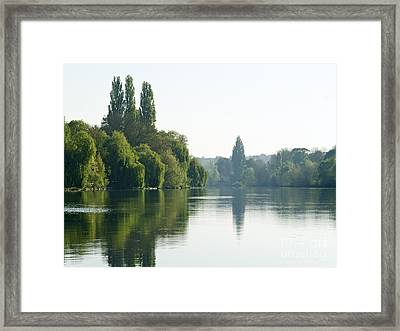 River Oise At Auvers Framed Print by Alex Cassels