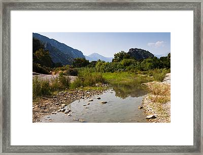 River On The Beach Framed Print