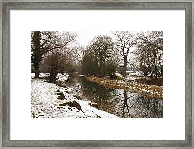 River Ouse In Snow Framed Print