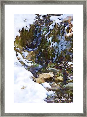 River Painting Framed Print by Donna Greene