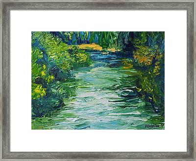 River Painting Framed Print