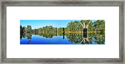 River Panorama And Reflections Framed Print