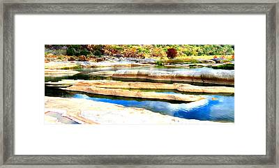 Framed Print featuring the photograph River Paradise by David  Norman