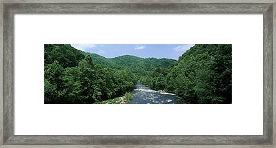 River Passing Through A Forest, Pigeon Framed Print by Panoramic Images