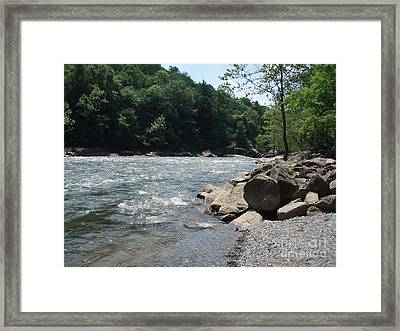 River Rapids Framed Print by Deborah DeLaBarre
