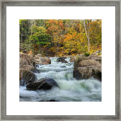 River Rapids Square Framed Print
