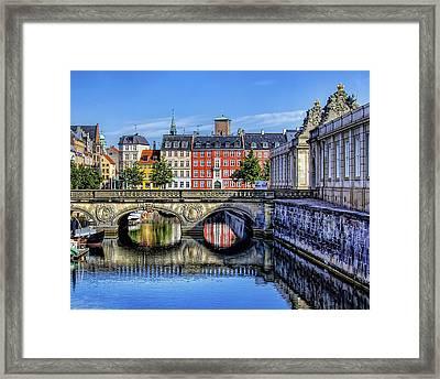 River Reflection - Copenhagen Denmark Framed Print by Jon Berghoff