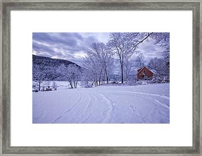 River Road Winter Framed Print