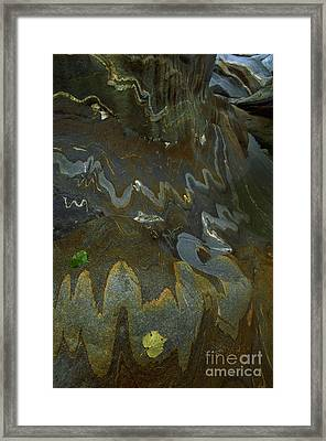 River Rock Intrusions Framed Print